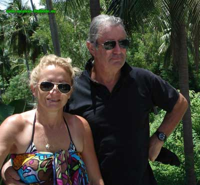 l'équipe d' acceuil sur l'ile de Koh Samui en Thaîlande par Marie et Patrick
