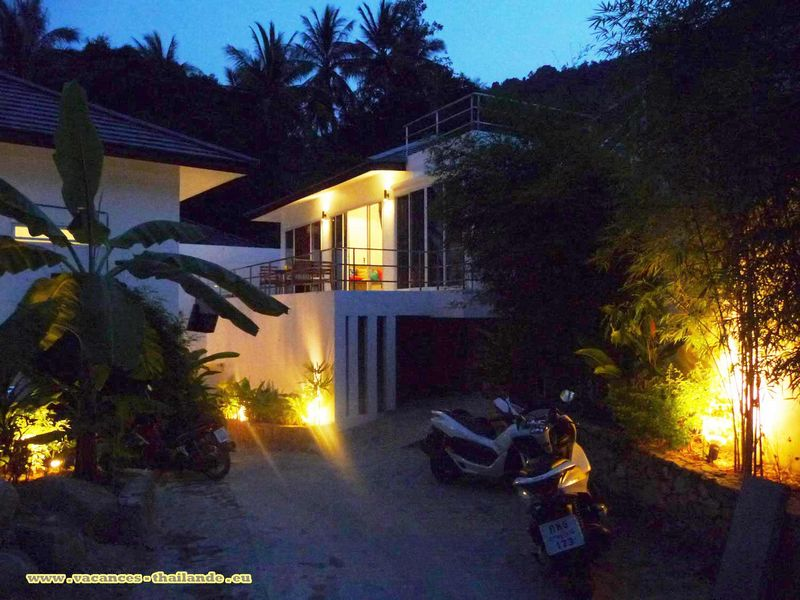 photo 47 location villa piscine koh samui thailande vue la nuit.